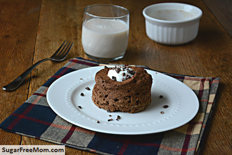 Single Serving Mint Chocolate Flax Muffin